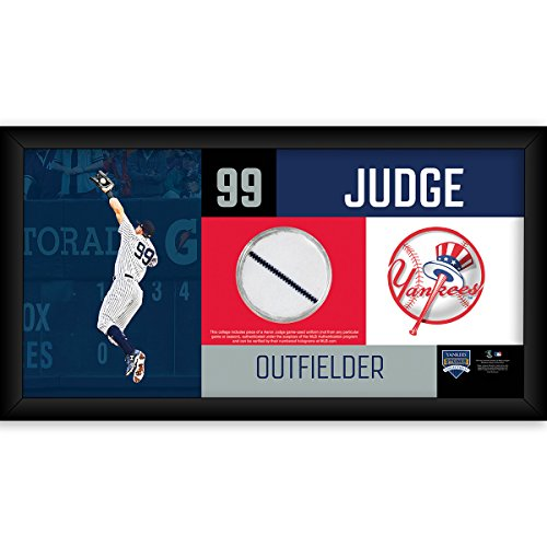 Aaron Judge New York Yankees 4x8 Frame with Game Used Unifor