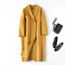 (Cover) Double-sided cashmere overcoat, medium and long cocoon wool wool wool coat, slim and skinny