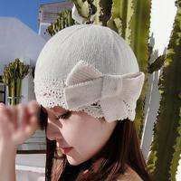 毛线帽女甜美可爱