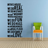 60X80cmWall Quote Letter Art Decal Removable Wall Stickers A