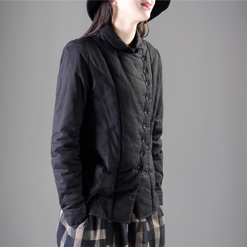 Garden Park beautiful clothes new quilted bottoming shirt retro small lapel thick warm shirt