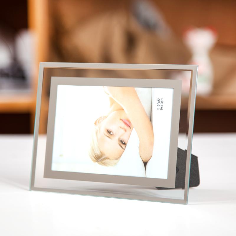 现代简约水晶玻璃摆台摆件相框5 6 7 8 10寸横竖通用影楼宝宝画框