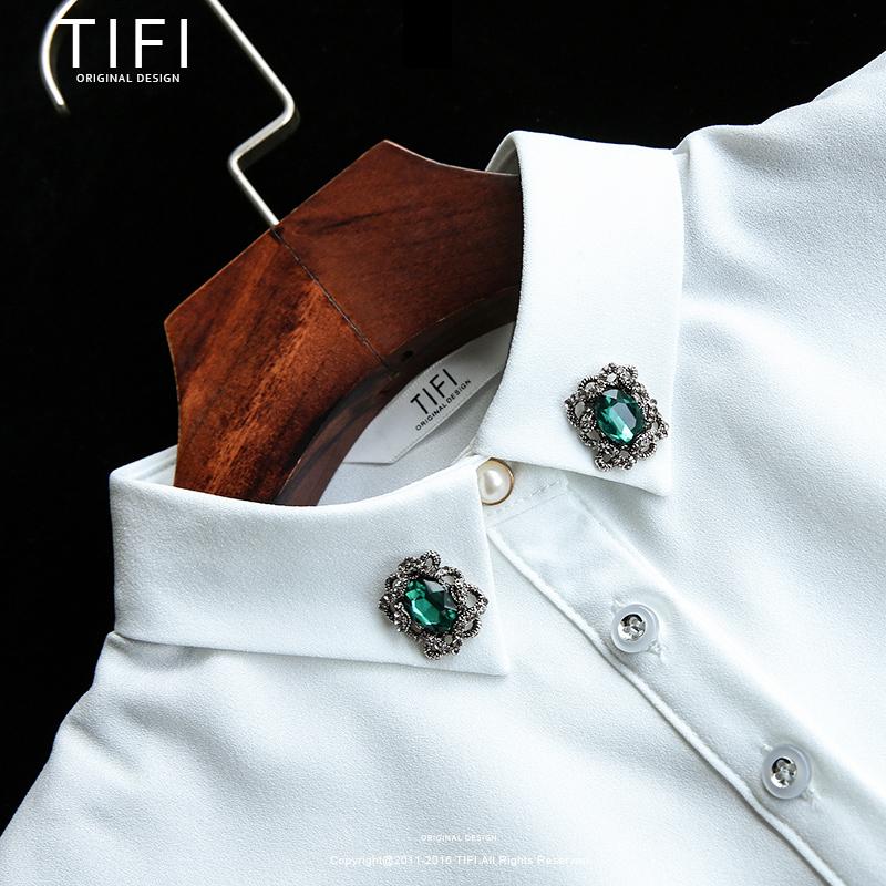 女士假领子女衬衣衬衫假颈领子钉珠领针烫钻秋冬季百搭配饰毛衣领