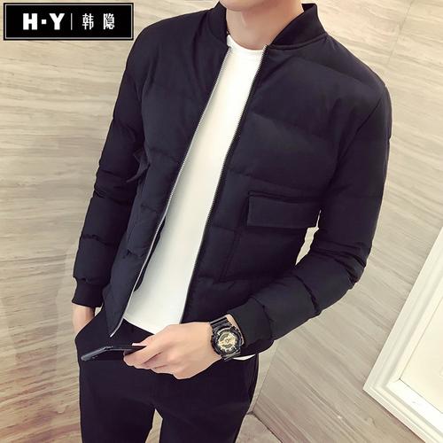 冬季短款修身棉衣男士韩版潮流外套社会精神小伙青年棉服网红棉袄
