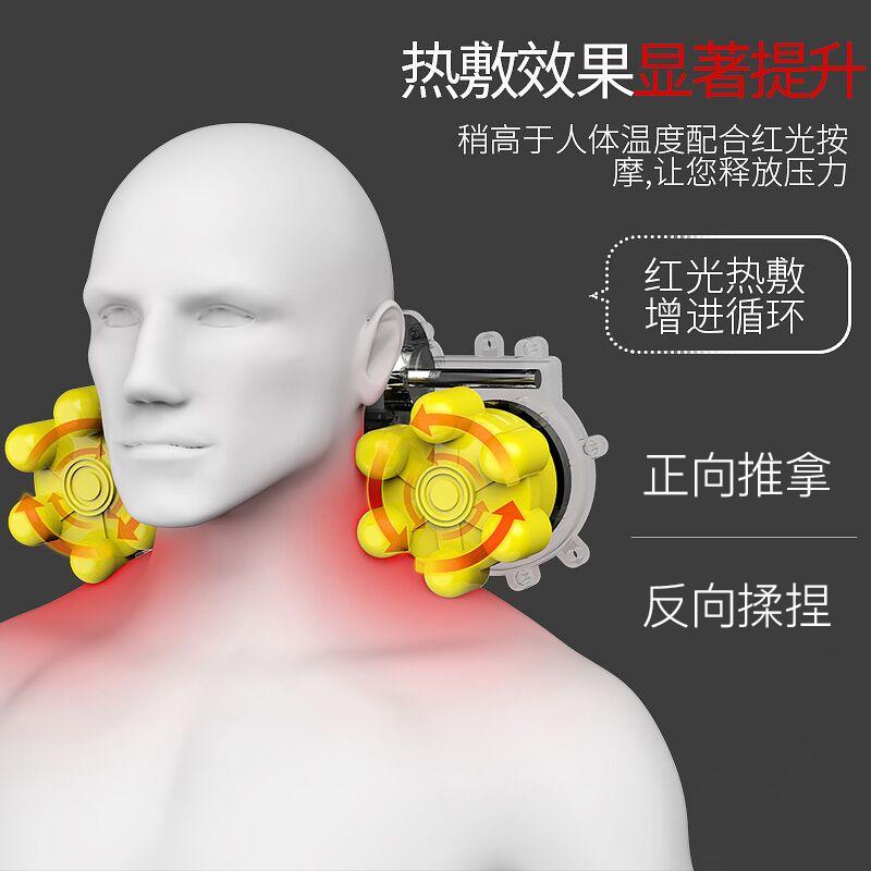多功能肩颈椎按摩器颈部腰部肩部全身颈肩电动车载仪枕头脖子家用