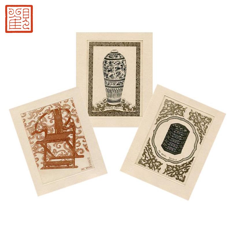 观复博物馆藏书票《马未都说收藏》精装典藏版版画收藏签字版编号