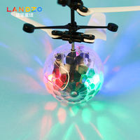 Blue Zhou 7 color induction suspension crystal ball aircraft children mini remote control aircraft intelligent toy student gift