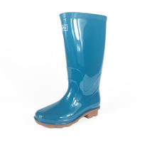 Pull back rain boots female short tube low to help non-slip tendon bottom genuine water shoes men's high boots rain boots rubber wear overshoes