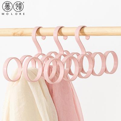 围巾架圈圈丝巾架家用挂围巾的架子多功能衣架围巾收纳挂架圈环