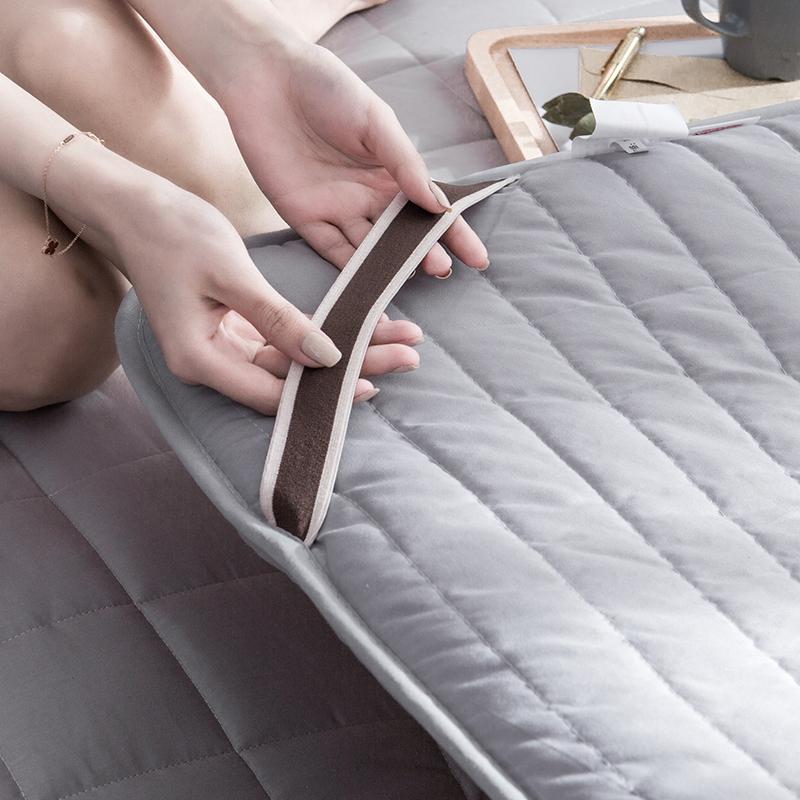 紫罗兰全棉床垫床褥1.8m双人垫被1.5米床褥子单人加厚防滑保护垫