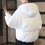 棉衣男冬季外套加厚短款棉袄潮流宽松学生情侣面包服男士羽绒棉服