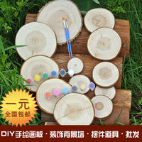 Wood chips Fir-rings Rings Wood Chips DIY Wood Chips Decorative wood Background Walls Hand-painted wood paintings
