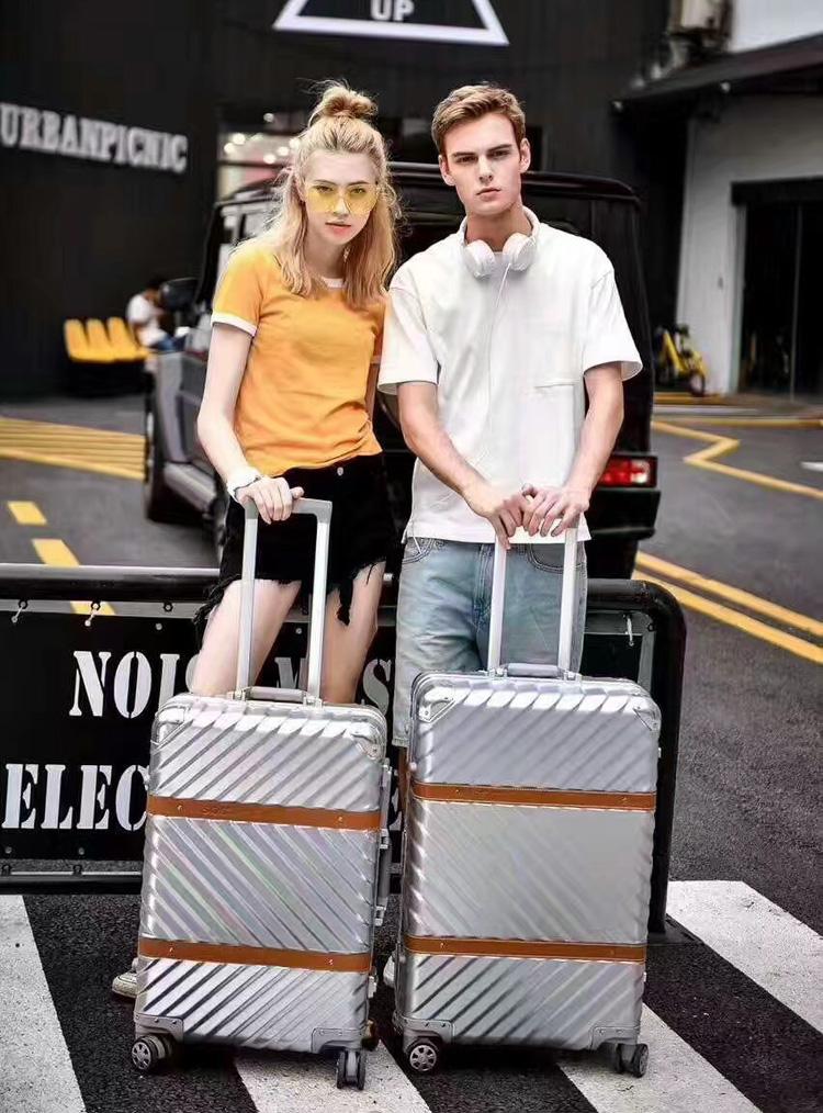 拉杆箱行李箱铝框旅行箱抗压箱万向轮男女学生箱包密码箱手拖拉箱