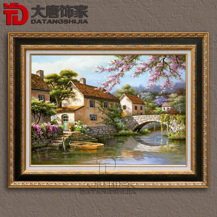 美式乡村客厅油画挂画
