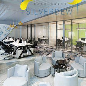 仿古员工位6人位成人长方形办公室现货原木色家私加大新品电脑桌