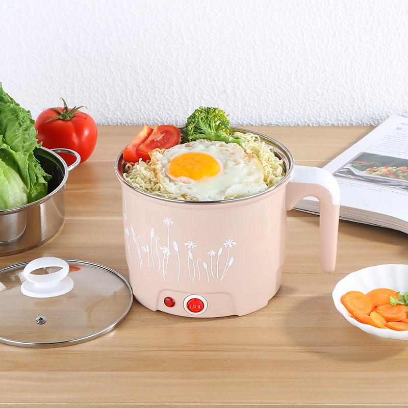 简约生活电热/素食火锅小素食鸡蛋单锅电器蒸锅单柄电线麻辣煮饭