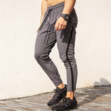 Alpha Gym Quick-drying Nine-minute Pants Men's Slim Summer New Leisure Elastic Breathing Running Fitness Pants