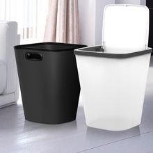 桌面分类垃圾桶家用客厅厨房简约现代创意大号厕所卫生间有带盖篓