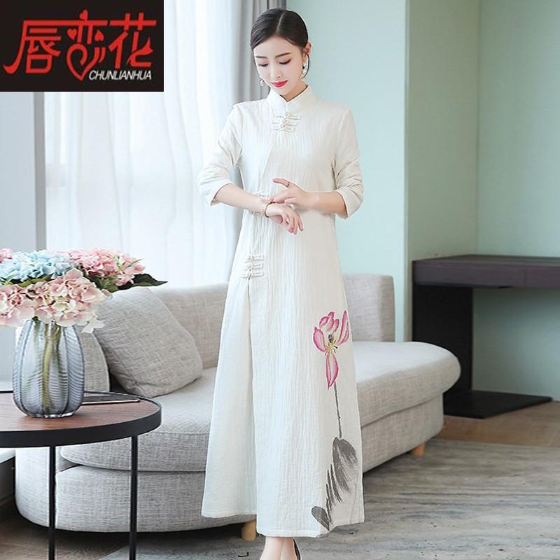 唇恋花CLF2019A6098旗袍