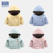 百天婴儿外套冬男新生儿外衣保暖衣服小童加厚棉衣一岁女宝宝上衣