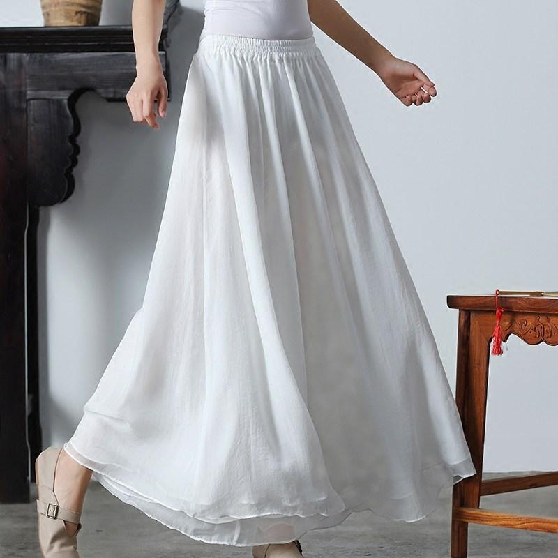 白色雪纺裤裙