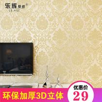 美式田园客厅沙发影视墙壁画电视背景墙卧室墙纸手绘树叶麋鹿