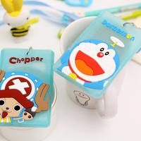 Card sets student bus meal card silicone cute cartoon Korea small fresh female campus certificate set lanyard card sets