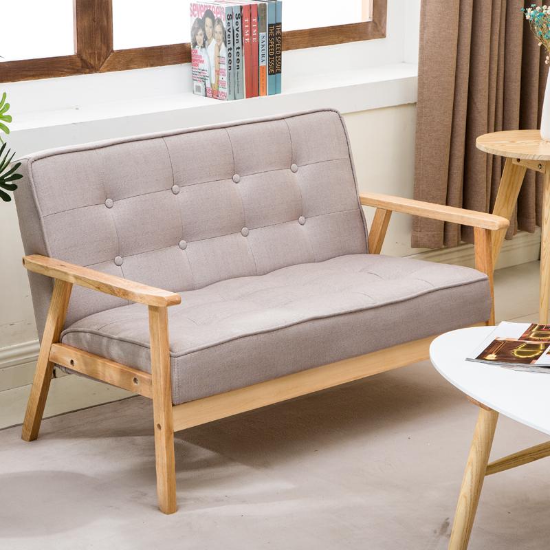 北欧沙发 木扶手