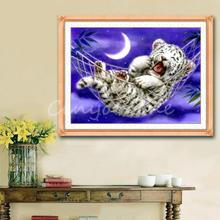 Good Promotion Handmade Counted Cross Stitch Kit Baby Tiger