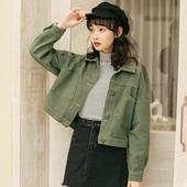 韩版 学生宽松薄款 高腰夹克上衣 短款 牛仔衣小外套女春秋季2019新款图片