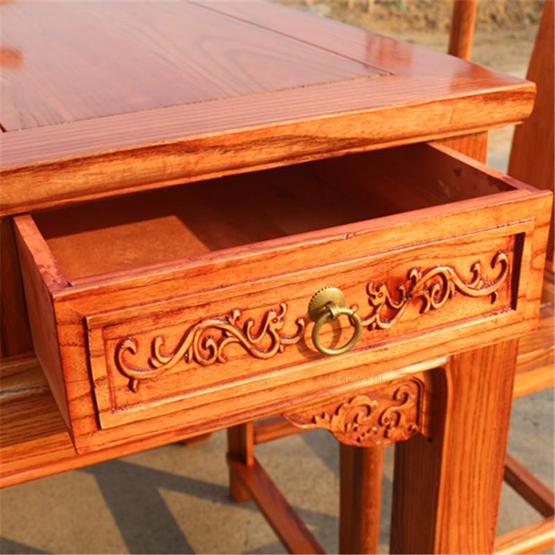 实木茶桌椅组合仿红木功夫茶桌新中式办公室喝茶榆木茶艺茶台茶几