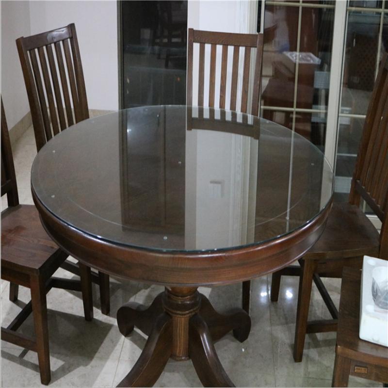 钢化玻璃台面定制玻璃面板餐桌茶几长方形圆形钢化玻璃桌面饭桌面