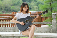 Ji Zhilin 38 inch guitar acoustic guitar acoustic guitar beginner entry level practice guitar student male and female musical instruments