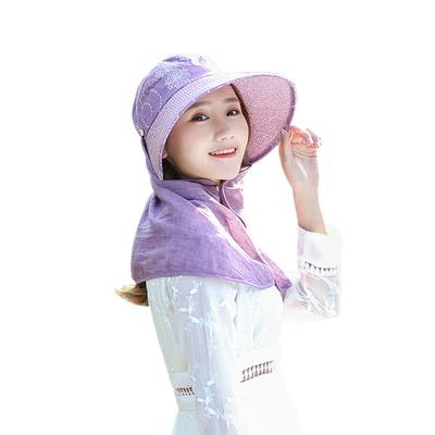 女士遮阳帽户外夏季时尚遮脖子防晒夏天妇女布帽中年妈妈中老年人