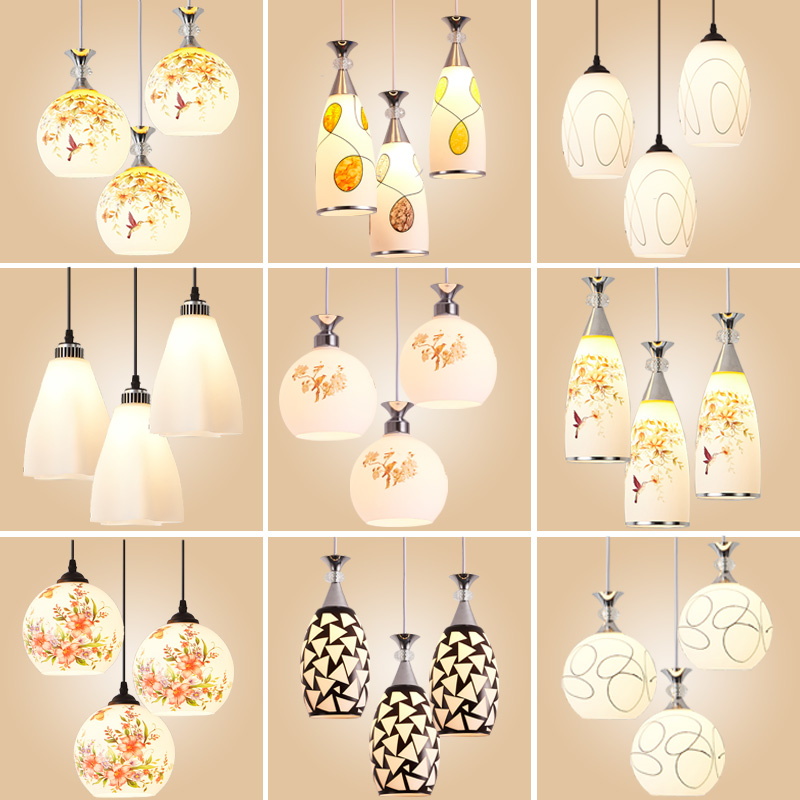 餐厅吊灯三头创意个性工业风吧台卧室餐厅灯简约现代过道餐吊灯具