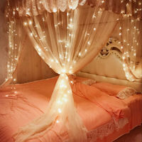 New Year Curtain Lights Stars Lights Red Room Bedroom New Year Decoration Lights Waterfall Lights Lanterns Lights Lights Spring Festival