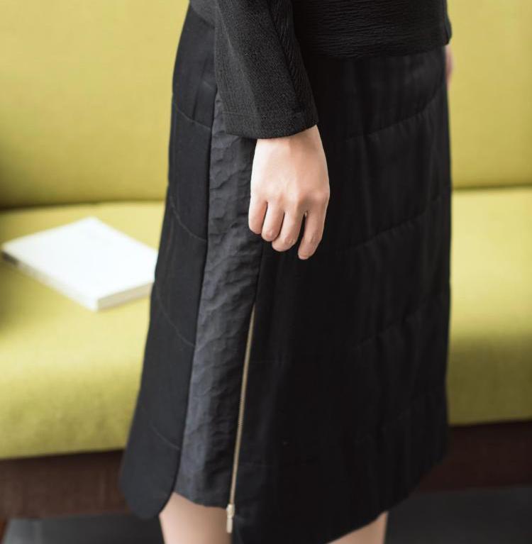 丝 夹棉 裙
