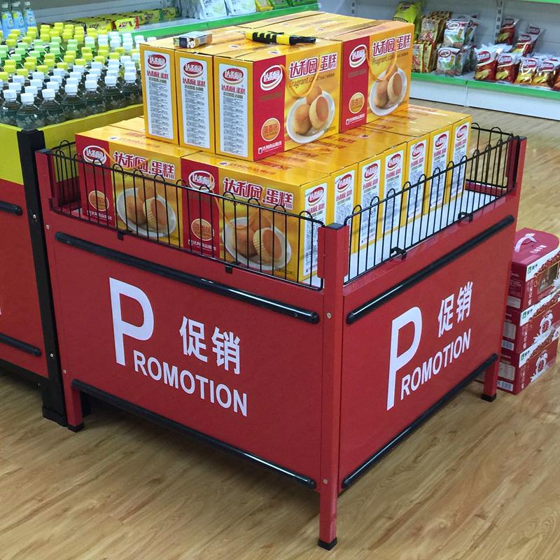 超市特价促销台日式折叠花车货架服装店甩货车商场堆头促销台定制