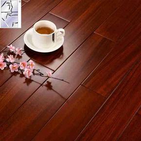 非洲圆盘豆 纯实木地板 钢琴烤漆级酒红色