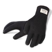 主角院情侣触屏手套男女秋冬季户外开车加绒保暖韩版可爱毛线针织