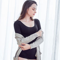 Low collar autumn clothing close-fitting warm clothing underwear female thin section color bottoming shirt tight body body single wearing jacket winter