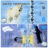 New UNC Arctic 6 yuan plastic note foreign coins new rough gold printing 2013