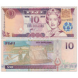 New UNC Fiji 10-yuan note foreign currency ND2002 P-106 a