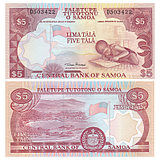 New UNC Samoa 5 Tara banknotes Foreign Coins ND2002 P-33a