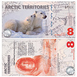 New UNC Arctic 8-yuan Plastic Banknote Foreign Currency 2011