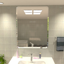 壁挂卫生间洗手台卫浴镜子灯镜LED无框浴室镜智能触摸屏除雾防雾