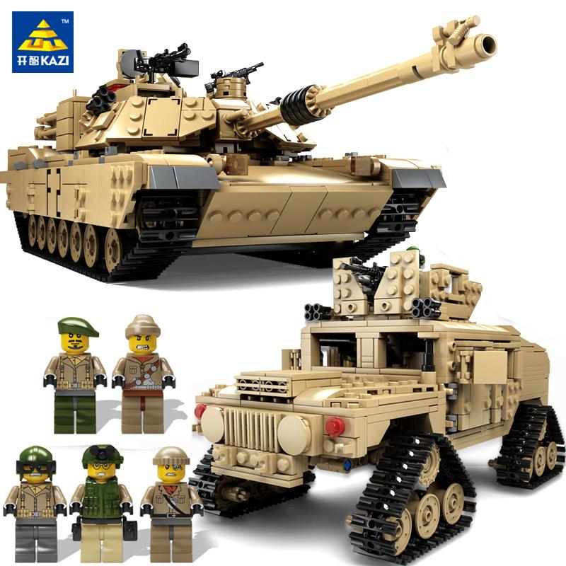 开智积木legao玩具军事坦克悍马模型男孩大型益智9拼装战车10岁12