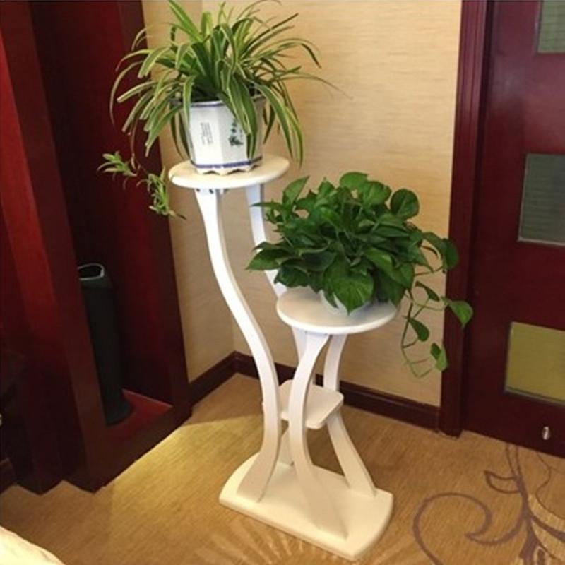 实木花架家用客厅置物架木质多层室内阳台盆景绿萝花架子落地北欧