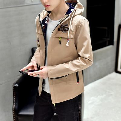 青少年14夹克15男孩16初中学生18岁春装时尚外套男帅气春秋衣服潮