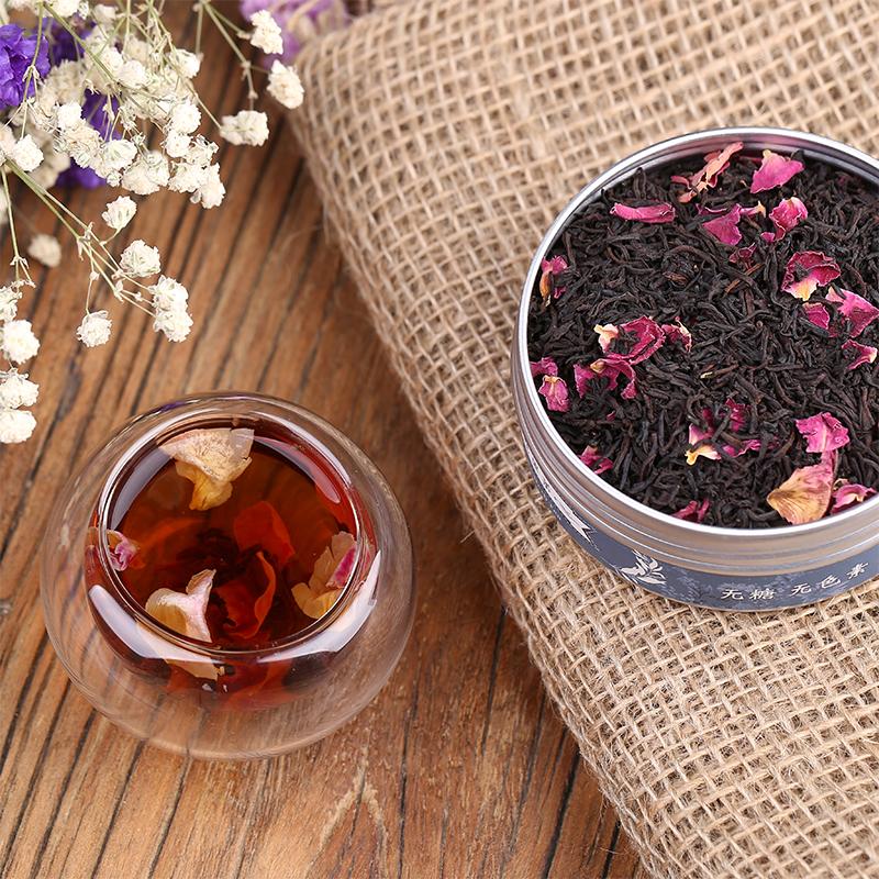 罐礼盒装包邮 2 德国花果茶重瓣玫瑰红茶果粒茶水果茶玫瑰花茶 HOKYO
